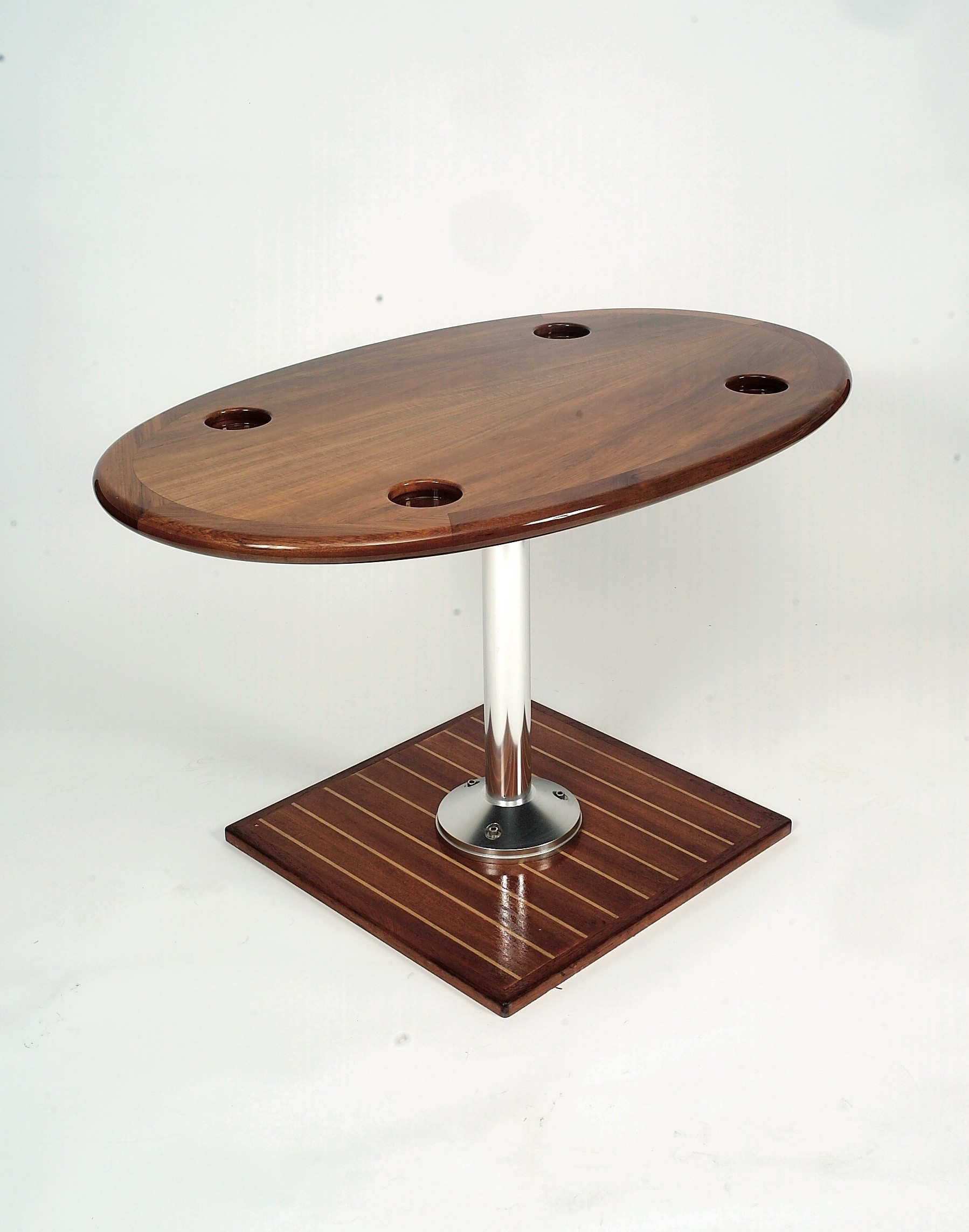 Teak Table with Cup Holders