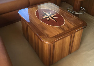 Salon Storage Table with Compass Rose