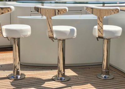 Water Jet Series Stainless Bar Stools